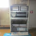 製粉工場の「エアコン洗浄」