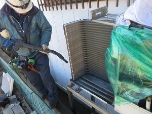 室外機洗浄作業
