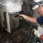 工作機械のオイルコン、アルミフィン洗浄