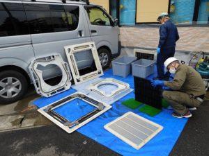 エアコン部品の洗浄