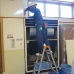 床置型パナソニックS-G240BES1のアルミフィン洗浄