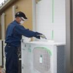 室外機へ「エアマル節電塗装(節電効果のある塗料の塗布)」を行い、電気代の削減効果を試験しました。