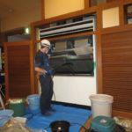 67 16馬力大型エアコン、床置きを洗浄しました