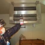 エアコン室内機は、粉塵と異臭を収集する設備です