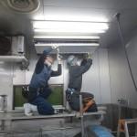 佐倉市、給食製造工場の「天吊形エアコン洗浄」