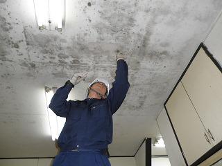 塗装前 工場の天井