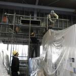 金属加工工場の大型・天吊りエアコンの「エアコン洗浄」