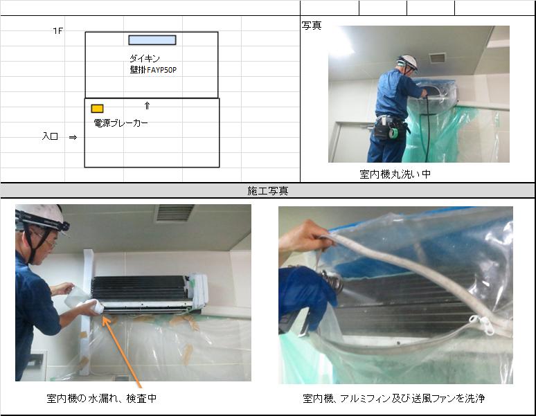 エアコン洗浄作業