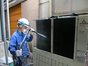 室外機 フィン洗浄