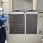 グラス製造工場「エアコン洗浄」による冷房能力回復