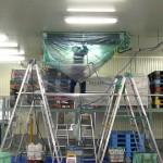 大型冷蔵倉庫「低温エアコン洗浄」室内機40台
